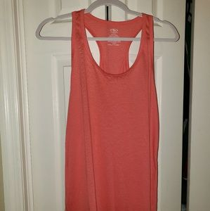 Coral pink athletic racer back tank
